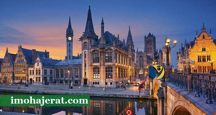 هزینه اقامت در بلژیک