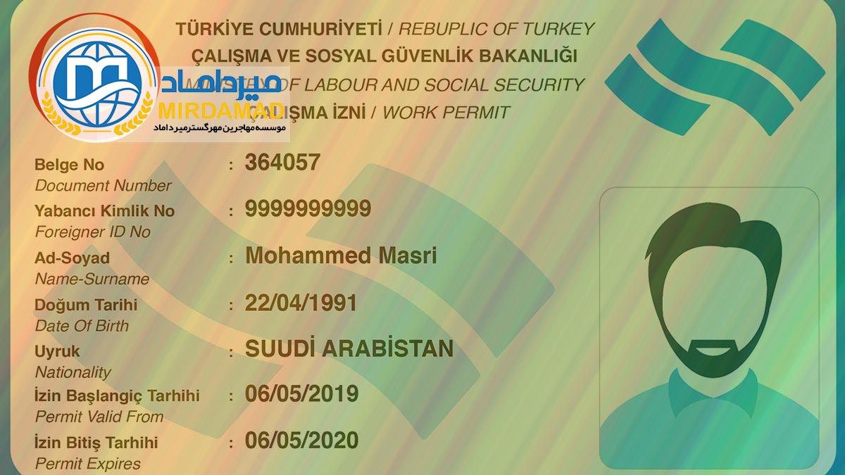 ویزای کار دائم ترکیه